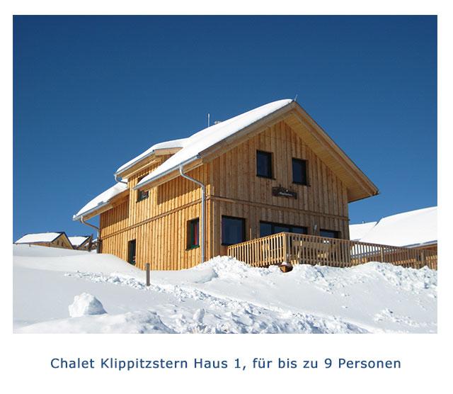 Chalet Klippitzstern Haus 1
